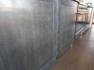 Bespoke zinc cabinetry