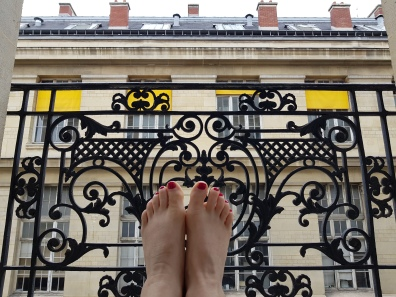 Happy tired feet in Paris