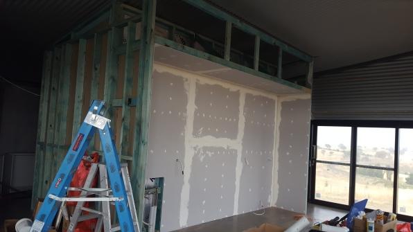 Walls: front kitchen