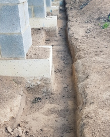 Trench = wall = concrete