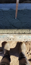 feet, footings and formwork